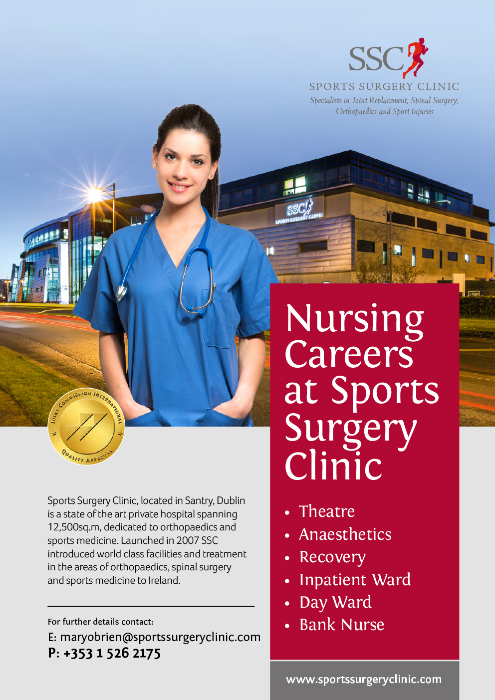 Nurses at Sports Surgery Clinic Santry