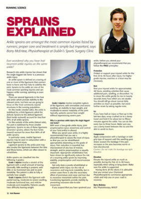 Recurrent ankle injuries