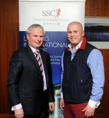 Dr Philip Carolan, Consultant Sports & Exercise Medicine Physician, SSC with Mr Martin Murphy, Consultant Neurosurgeon, SSC.