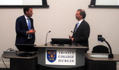 Dr Andy Franklyn-Miller with professor Markus O. Heller.