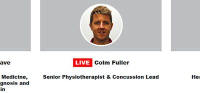 Neck Pain Webinar featuring Dr Ciaran Cosgrove, Colm Fuller and Neil Welch - Videos now available